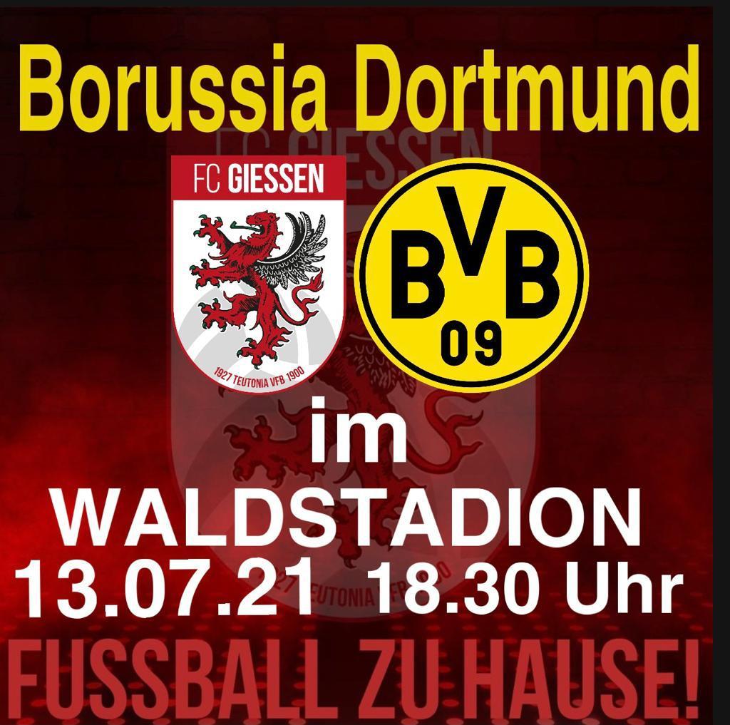 Borussia Dortmund gastiert im Waldstadion 🔴⚪️🟡⚫️‼️