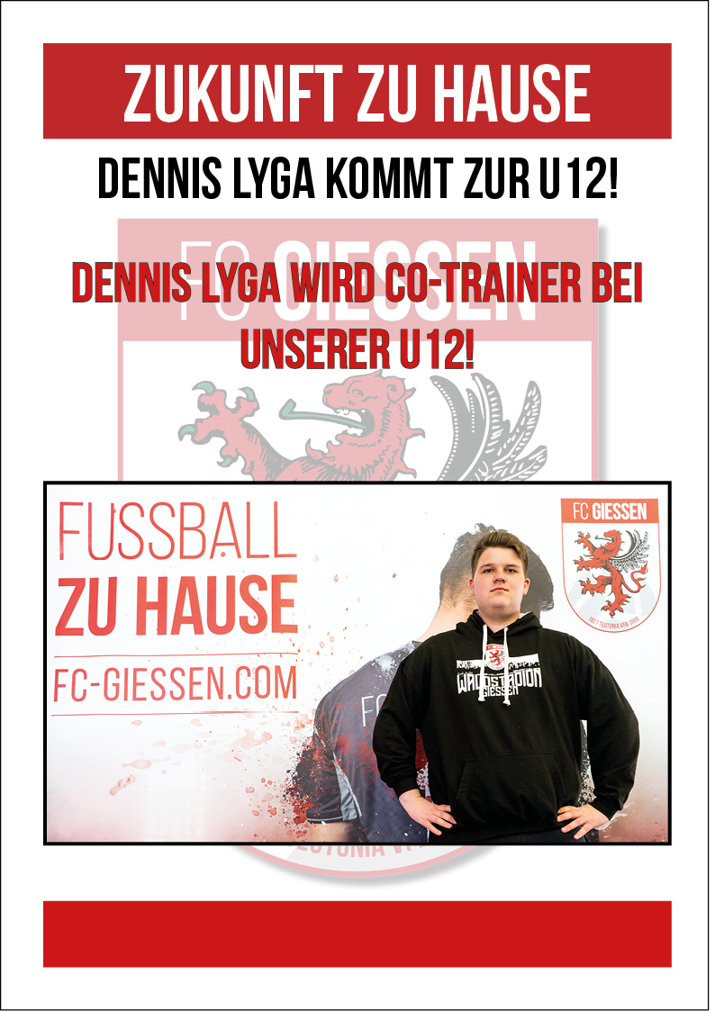 Dennis Lyga wird U12 Co -Trainer ‼️🔴⚪️