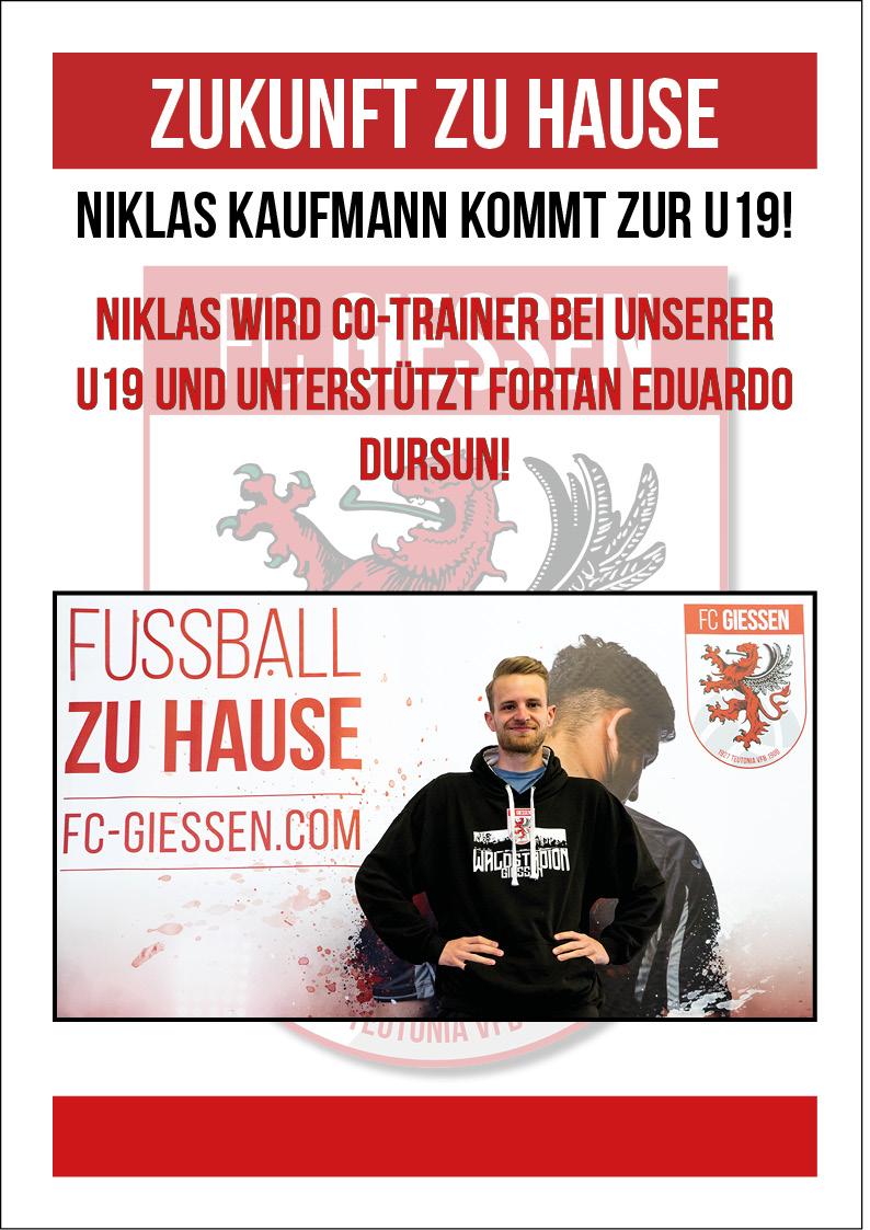 Niklas Kaufmann wird U19 Co-Trainer ‼️🔴⚪️